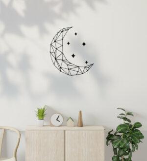 Dekorace na zeď s měsíce a hvězd