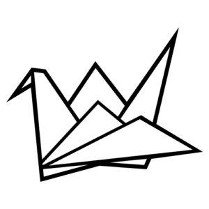 Geometrická dekorace ve stylu origami