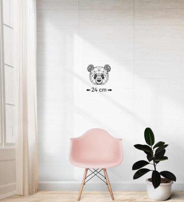 panda cz dekorace na zed 24cm