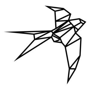 Geometrická dekorace vlaštovka