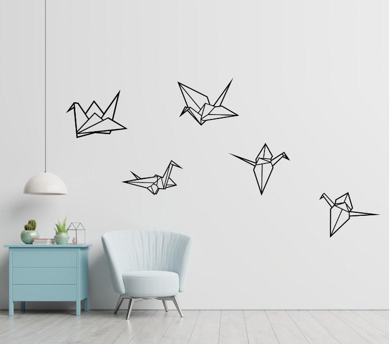 Ptáci na zeď dekorace
