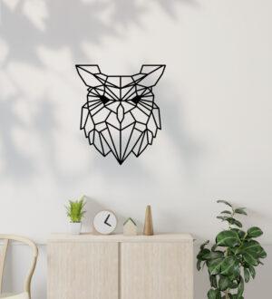 sova geometricka dekorace 1