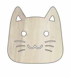 Dřevěný podtácek s motive kočky